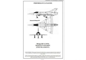 Documentation des performances: F-5E, MiG-21, Mirage III et F-4