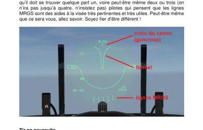 Nouveau document tutoriel de l'AVM pour le F-16 : le tir canon air-air