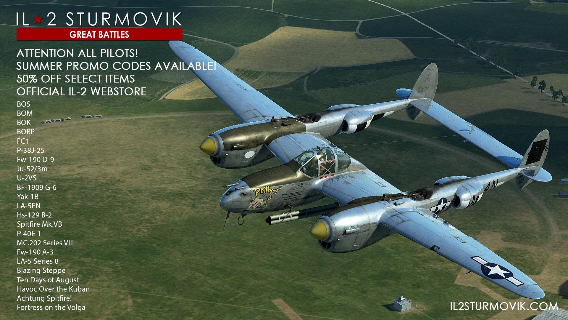 IL-2 Great Batlles: - 50% sur le store officiel en code promo !