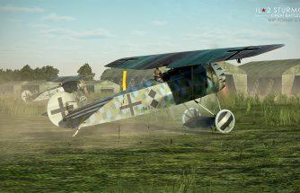 IL-2 Great Battles: JDD N°282 Fokker DVIII en courte finale