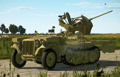 IL-2 Great Battles: JDD N°283 Véhicule Sd.Kfz 10/5 Flak 38, Plafz DXII pour FC2 et réservoir largable...